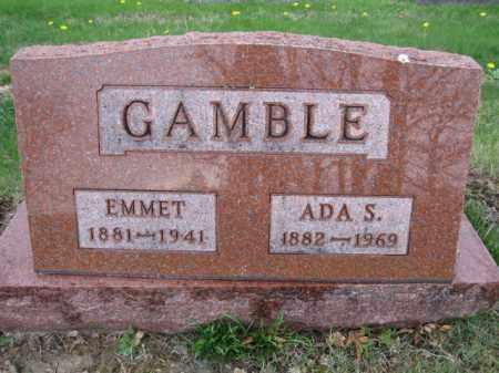 GAMBLE, EMMET - Union County, Ohio | EMMET GAMBLE - Ohio Gravestone Photos