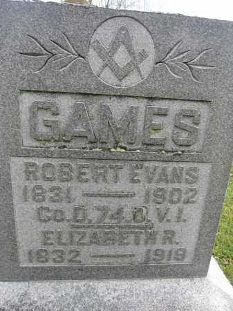 GAMES, ELIZABETH R. REED - Union County, Ohio | ELIZABETH R. REED GAMES - Ohio Gravestone Photos