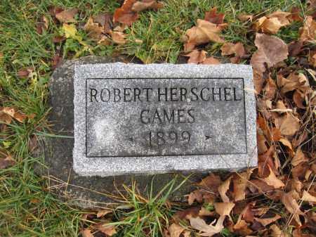 GAMES, ROBERT HERSCHEL - Union County, Ohio | ROBERT HERSCHEL GAMES - Ohio Gravestone Photos