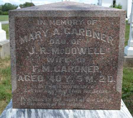 GARDNER, MARY A. MCDOWELL - Union County, Ohio   MARY A. MCDOWELL GARDNER - Ohio Gravestone Photos