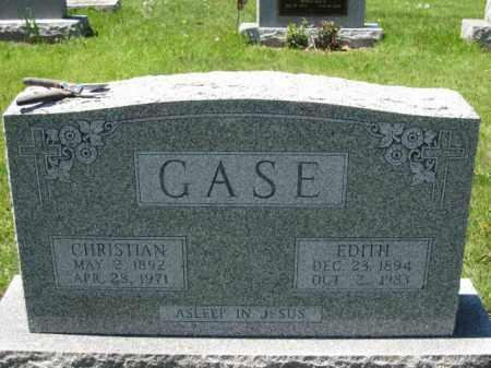 GASE, EDITH - Union County, Ohio | EDITH GASE - Ohio Gravestone Photos