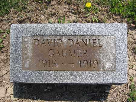 GAUMER, DAVID DANIEL - Union County, Ohio | DAVID DANIEL GAUMER - Ohio Gravestone Photos