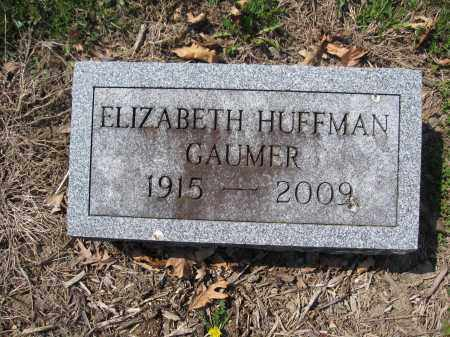 GAUMER, ELIZABETH HUFFMAN - Union County, Ohio | ELIZABETH HUFFMAN GAUMER - Ohio Gravestone Photos