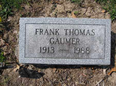 GAUMER, FRANK THOMAS - Union County, Ohio | FRANK THOMAS GAUMER - Ohio Gravestone Photos