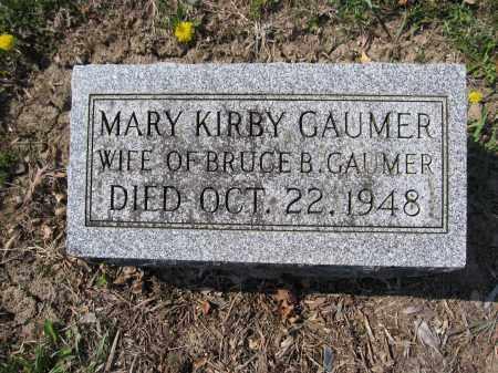GAUMER, MARY KIRBY - Union County, Ohio | MARY KIRBY GAUMER - Ohio Gravestone Photos