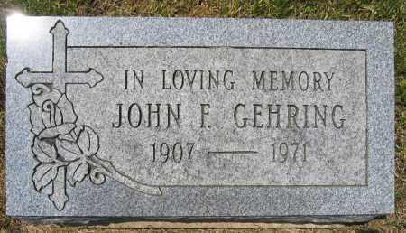GEHRING, JOHN F. - Union County, Ohio | JOHN F. GEHRING - Ohio Gravestone Photos