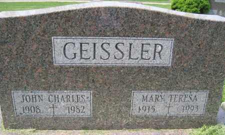 GEISSLER, MARY TERESA - Union County, Ohio   MARY TERESA GEISSLER - Ohio Gravestone Photos