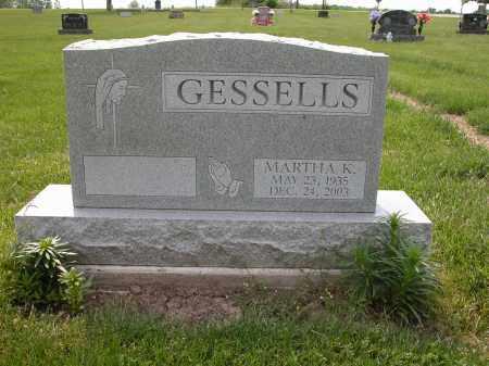 GESSELLS, MARTHA K. - Union County, Ohio | MARTHA K. GESSELLS - Ohio Gravestone Photos