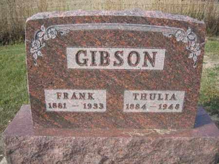 GIBSON, FRANK - Union County, Ohio | FRANK GIBSON - Ohio Gravestone Photos