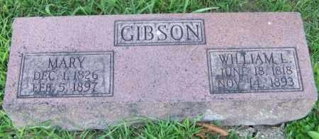 GIBSON, WILLIAM L - Union County, Ohio | WILLIAM L GIBSON - Ohio Gravestone Photos
