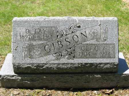 GIBSON, O. FAY - Union County, Ohio | O. FAY GIBSON - Ohio Gravestone Photos