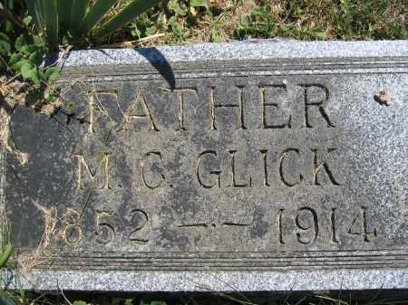 GLICK, M.C. - Union County, Ohio   M.C. GLICK - Ohio Gravestone Photos