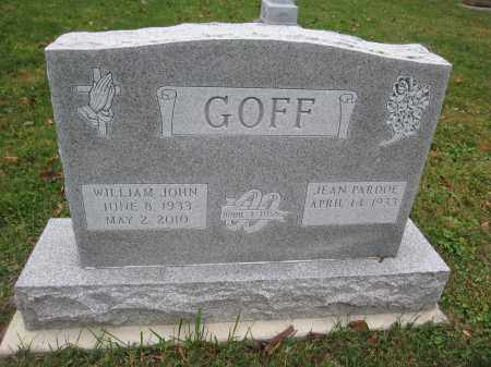 GOFF, WILLIAM JOHN - Union County, Ohio | WILLIAM JOHN GOFF - Ohio Gravestone Photos
