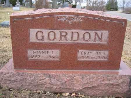 GORDON, CRAYTON J. - Union County, Ohio | CRAYTON J. GORDON - Ohio Gravestone Photos