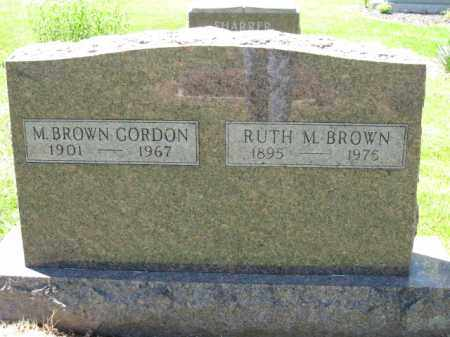 GORDON, M. BROWN - Union County, Ohio | M. BROWN GORDON - Ohio Gravestone Photos