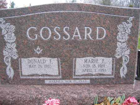 GOSSARD, DONALD F. - Union County, Ohio | DONALD F. GOSSARD - Ohio Gravestone Photos