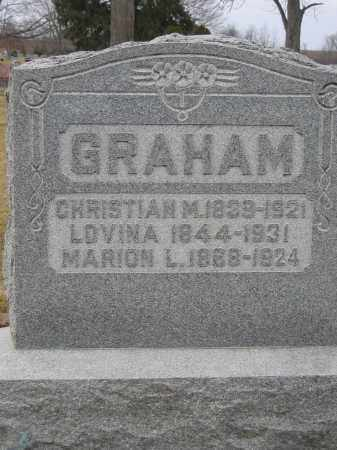 GRAHAM, CHRISTIAN - Union County, Ohio | CHRISTIAN GRAHAM - Ohio Gravestone Photos