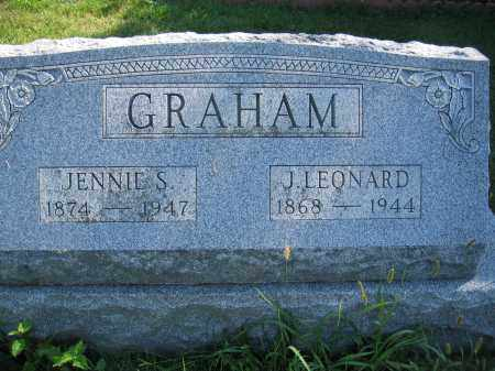 GRAHAM, JENNIE S. - Union County, Ohio | JENNIE S. GRAHAM - Ohio Gravestone Photos
