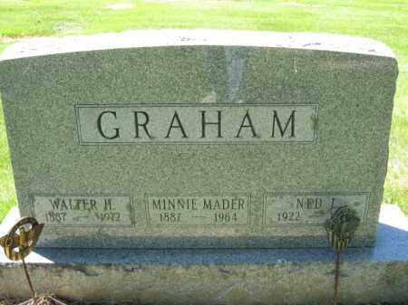 GRAHAM, MINNIE MADER - Union County, Ohio | MINNIE MADER GRAHAM - Ohio Gravestone Photos
