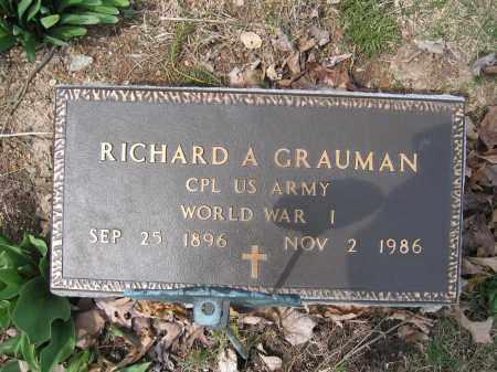 GRAUMAN, RICHARD A. - Union County, Ohio | RICHARD A. GRAUMAN - Ohio Gravestone Photos