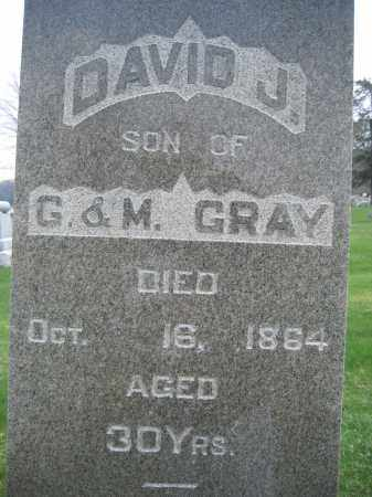 GRAY, DAVID J - Union County, Ohio | DAVID J GRAY - Ohio Gravestone Photos