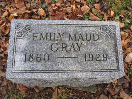 GRAY, EMILY MAUD - Union County, Ohio | EMILY MAUD GRAY - Ohio Gravestone Photos