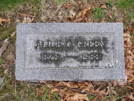 GREEN, ALICE C. - Union County, Ohio | ALICE C. GREEN - Ohio Gravestone Photos