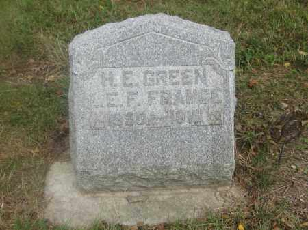 GREEN, H.E. - Union County, Ohio | H.E. GREEN - Ohio Gravestone Photos