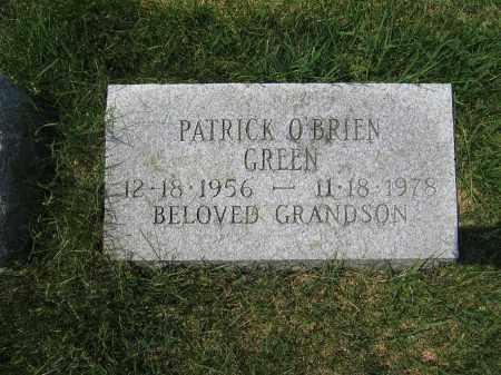 GREEN, PATRICK O'BRIEN - Union County, Ohio | PATRICK O'BRIEN GREEN - Ohio Gravestone Photos