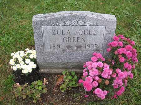 GREEN, ZULA FOGLE - Union County, Ohio | ZULA FOGLE GREEN - Ohio Gravestone Photos