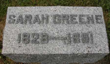 GREENE, SARAH - Union County, Ohio | SARAH GREENE - Ohio Gravestone Photos