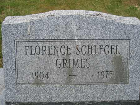 SCHLEGEL GRIMES, FLORENCE - Union County, Ohio | FLORENCE SCHLEGEL GRIMES - Ohio Gravestone Photos