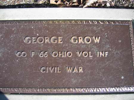 GROW, GEORGE - Union County, Ohio   GEORGE GROW - Ohio Gravestone Photos