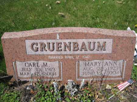 GRUENBAUM, CARL M. - Union County, Ohio | CARL M. GRUENBAUM - Ohio Gravestone Photos