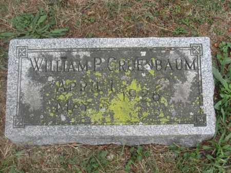GRUENBAUM, WILLIAM P. - Union County, Ohio   WILLIAM P. GRUENBAUM - Ohio Gravestone Photos