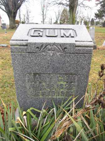 GUM, MARY - Union County, Ohio | MARY GUM - Ohio Gravestone Photos