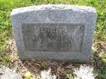 GUNDERMAN, ESTHER - Union County, Ohio | ESTHER GUNDERMAN - Ohio Gravestone Photos