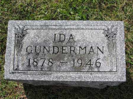 GUNDERMAN, IDA - Union County, Ohio   IDA GUNDERMAN - Ohio Gravestone Photos