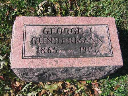 GUNDERMANN, GEORGE J. - Union County, Ohio   GEORGE J. GUNDERMANN - Ohio Gravestone Photos