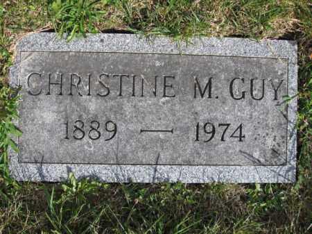 GUY, CHRISTINE M. - Union County, Ohio   CHRISTINE M. GUY - Ohio Gravestone Photos