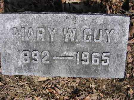 GUY, MARY W. - Union County, Ohio | MARY W. GUY - Ohio Gravestone Photos