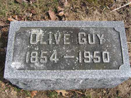 GUY, OLIVE - Union County, Ohio | OLIVE GUY - Ohio Gravestone Photos