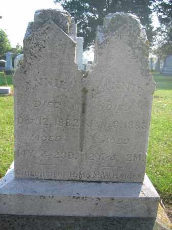 HAINES, NANNIE - Union County, Ohio | NANNIE HAINES - Ohio Gravestone Photos