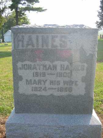 HAINES, JONATHAN - Union County, Ohio | JONATHAN HAINES - Ohio Gravestone Photos