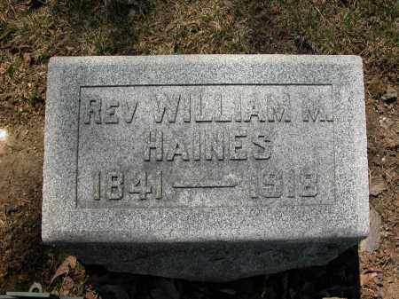 HAINES, REV., WILLIAM M. - Union County, Ohio | WILLIAM M. HAINES, REV. - Ohio Gravestone Photos