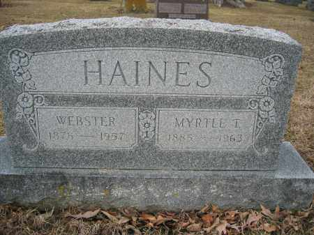 HAINES, WEBSTER - Union County, Ohio | WEBSTER HAINES - Ohio Gravestone Photos