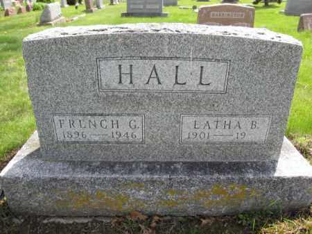 HALL, FRENCH G. - Union County, Ohio | FRENCH G. HALL - Ohio Gravestone Photos