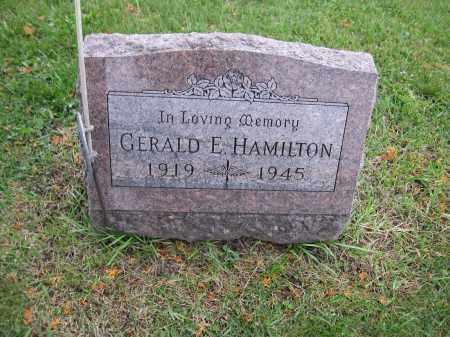 HAMILTON, GERALD E. - Union County, Ohio   GERALD E. HAMILTON - Ohio Gravestone Photos