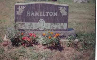 HAMILTON, KENOVA I - Union County, Ohio | KENOVA I HAMILTON - Ohio Gravestone Photos