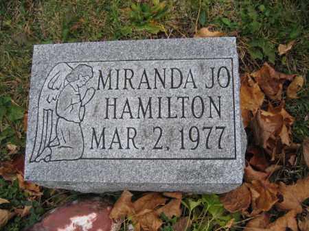 HAMILTON, MIRANDA JO - Union County, Ohio   MIRANDA JO HAMILTON - Ohio Gravestone Photos